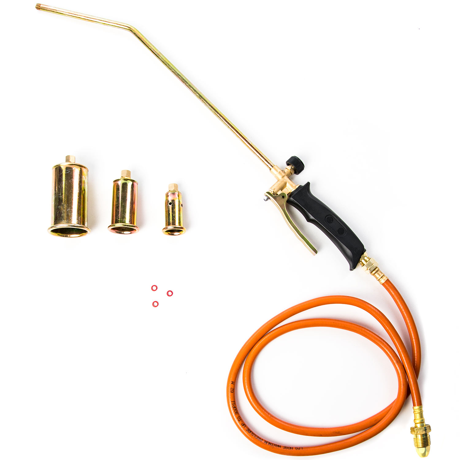 Portable Propane Torch Kit w/ 3x Nozzles - Turbo Blast Trigger and Flow Valve - Burn Weeds, Melt Snow and Ice, Remove Paint, Thaw Pipes, Hot Roofing, Asphalt Repair and More!
