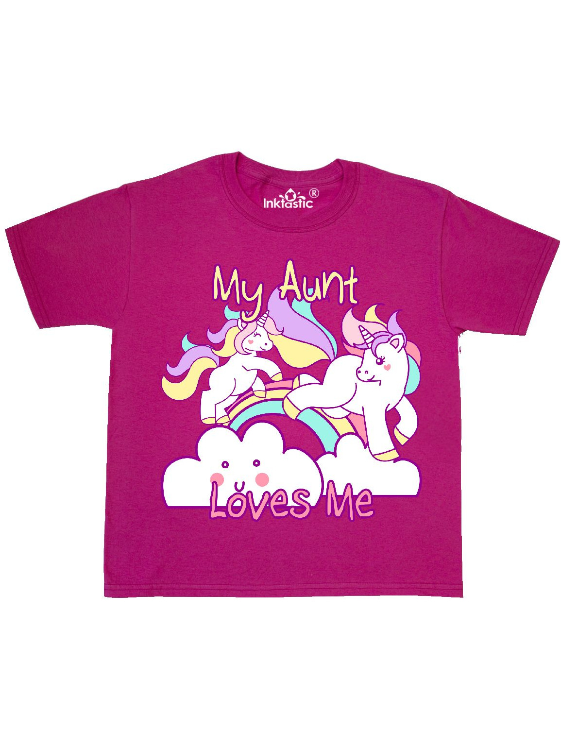 My Aunt Loves Me Unicorn Youth T-Shirt