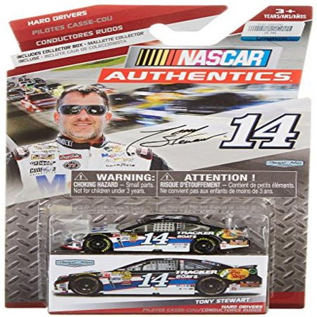 Hard Drivers Edition Tony Stewart #14 Mobil One 1 Tracker Boats Bass Pro Chevy 1/64 Scale Diecast NASCAR Authentics Includes Collector Box