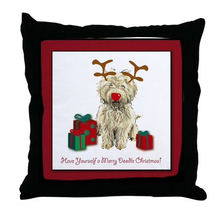 CafePress - Merry Doodle Christmas - Decor Throw Pillow (18