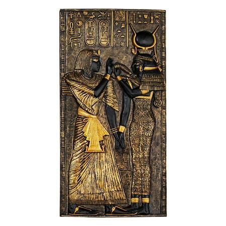 Egyptian Plaque (Egyptian Temple Stele Plaque: Isis)