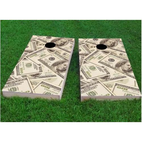 Custom Cornhole Boards Money Cornhole Game (Set of 2) by Custom Cornhole Boards