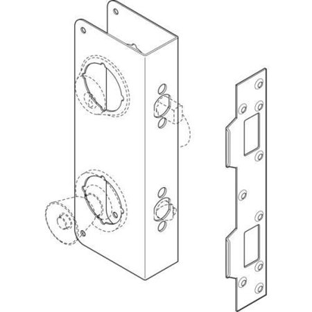 Combination Deadbolt Door Repair Cover Stainless Steel 2-3/8