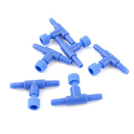 - Plastic Fish Tank Aquarium Air Control Valves 6 PCS Light Blue