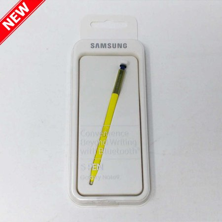 - Original Official Samsung S Pen Stylus, Bluetooth enabled, for Galaxy Note 9 - Yellow/Blue