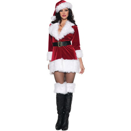 Secret Santa Adult Costume (Cute Santa Girl Costumes)