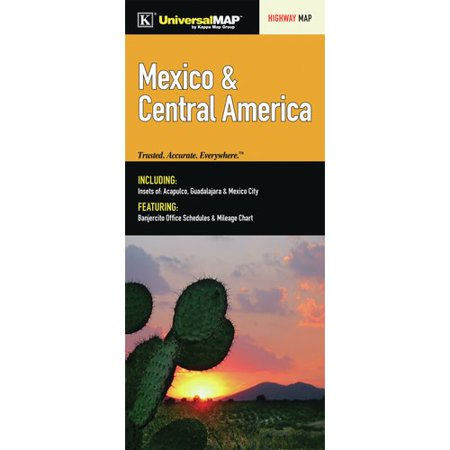 Universal Map Mexico/Central America Fold Map