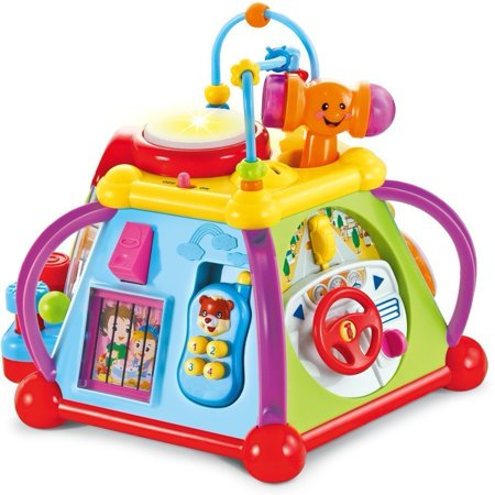 Musical Activity Cube Play Center with Lights, More than 15 Games Features and Skills - This activity cube play center is the best Gift for kids ages 1 - 7 year (Best Tablet For 1 Year Old)
