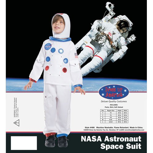 Dress Up America NASA Astronaut Children's Costume