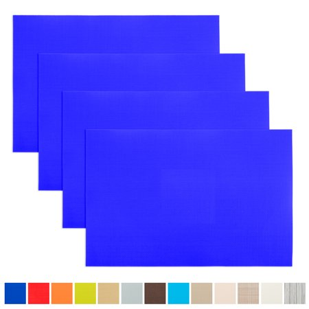 Aspire 4PCS Decorative Insulation Placemat, Washable Table Mats-Royal Blue ()