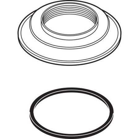 Delta RP23094 Scalloped Base with Gasket for Teapot Roman Tub Series
