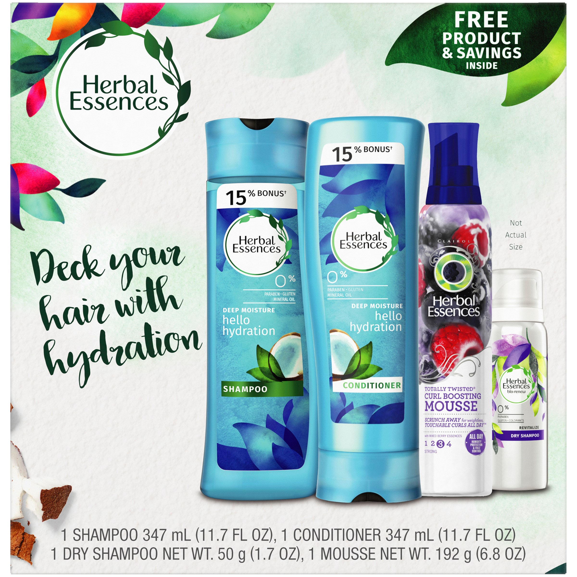 Herbal Essences Hello Hydration Moisturizing Shampoo and Conditioner Holiday Pack