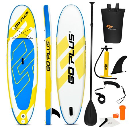 Goplus 11' Inflatable Stand up Paddle Board Surfboard W/Bag Water Sport All Skill Level (Up Sports)