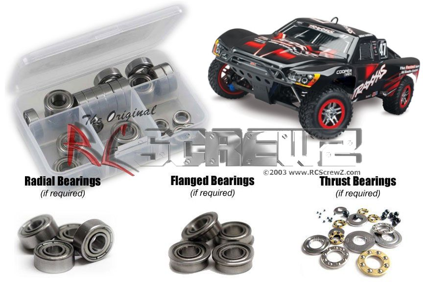 RCScrewZ Traxxas Slayer Pro 4x4 TSM Ed. Metal Shielded Bearing Kit #tra073b by RCScrewZ