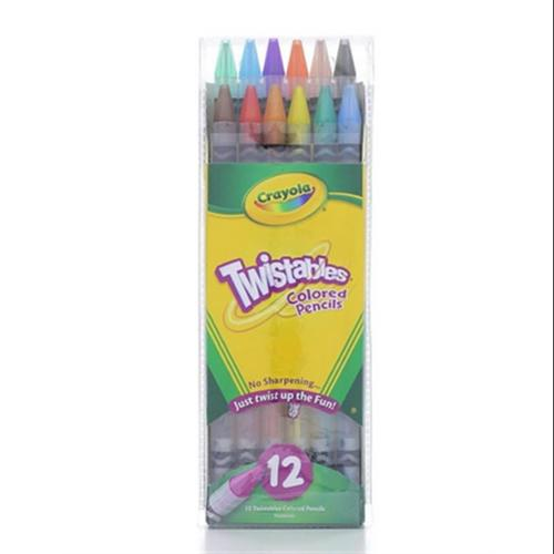 Crayola Twistables Colored Pencils, Assorted Colors 12 ea (Pack of 6)