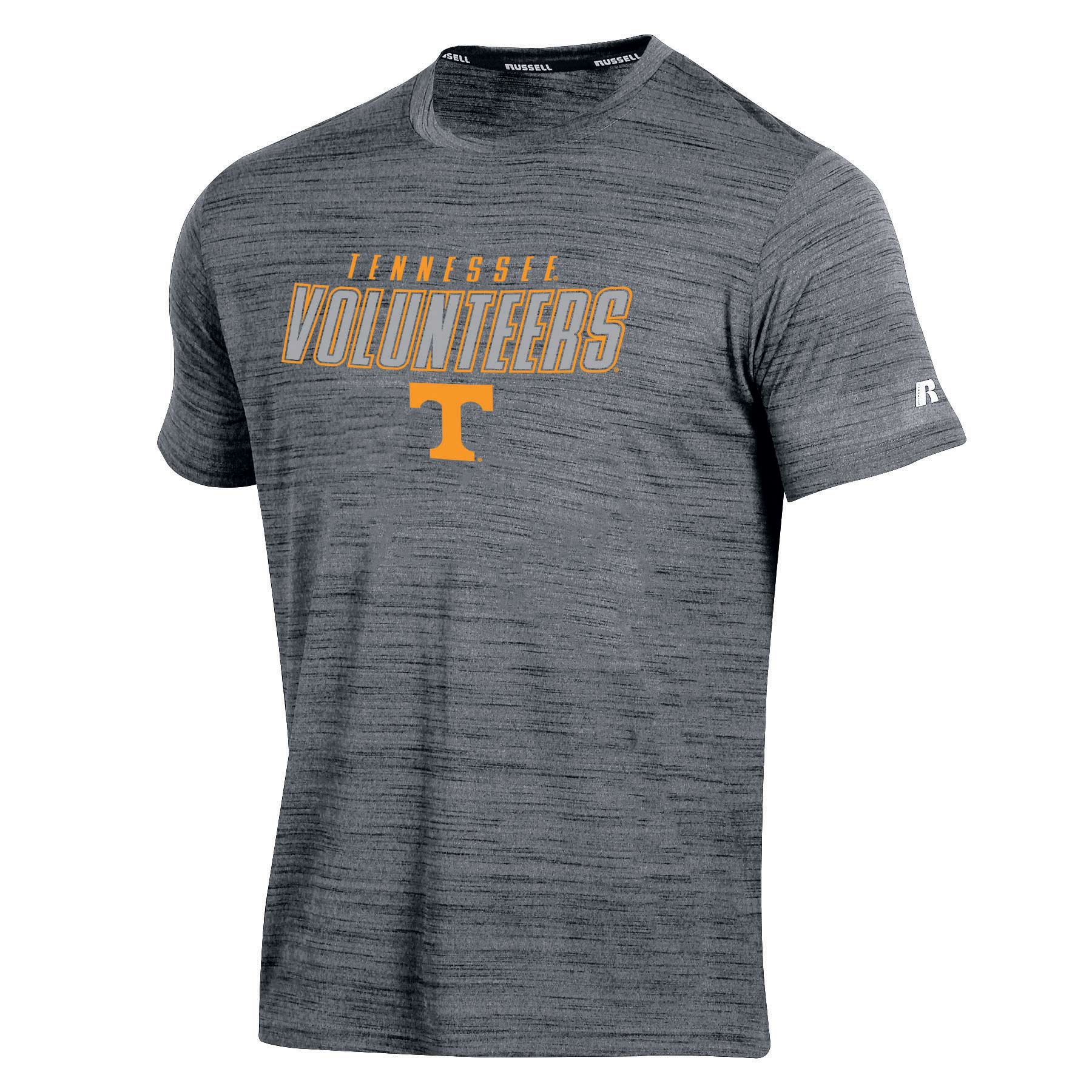 Men's Russell Gray Tennessee Volunteers Athletic Metallic T-Shirt