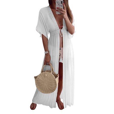 fedc1f05a0 sparkies - Womens Swimwear Bikini Cover Up Beach Maxi Wrap Skirt Sarong  Kimono Kaftan Dress - Walmart.com