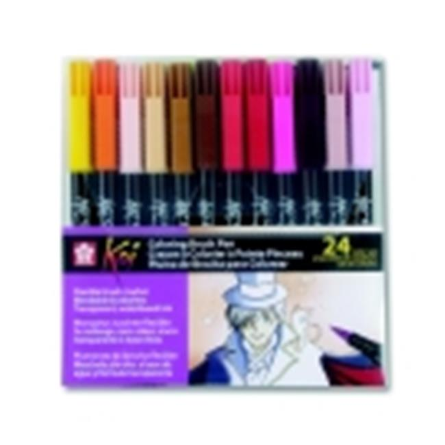 Sakura Non-Toxic Coloring Brush Marker, Pack - 24