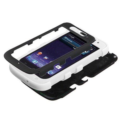 ZTE N9120 Avid 4G MyBat Tuff Hybrid Protector Case, Rubberized Black/Black