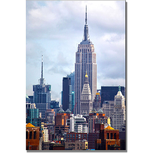 "Trademark Art ""Concrete Jungle"" Canvas Wall Art by CATeyes"