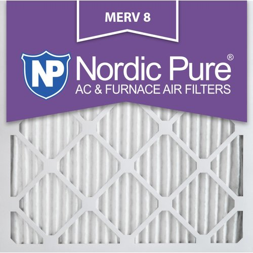 Nordic Pure Merv 8 Dust Reduction Pleated Air Conditioner/Furnace Filter (Set of 6)