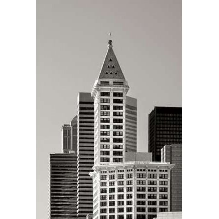 Smith Tower BW Canvas Art - Douglas Taylor (24 x 36)