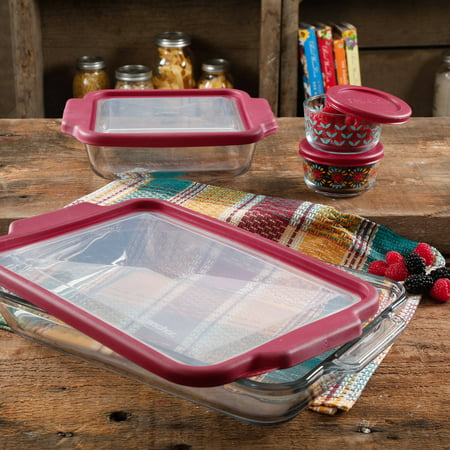 Walmart Clearance! The Pioneer Woman Flea Market 8-Piece Glass Bake and Store Decorated Set!