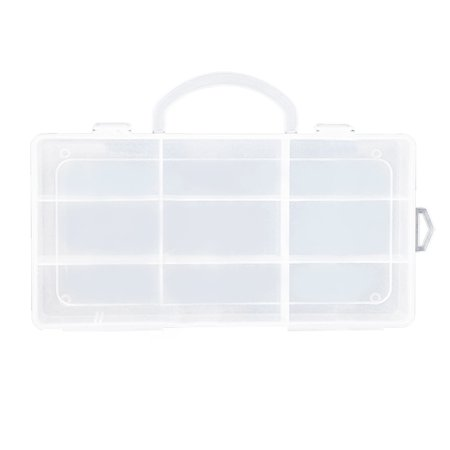Clear Toy Storage 9 Compartments Carrying Box Accessories For Little Pet Shop (Carving Box)