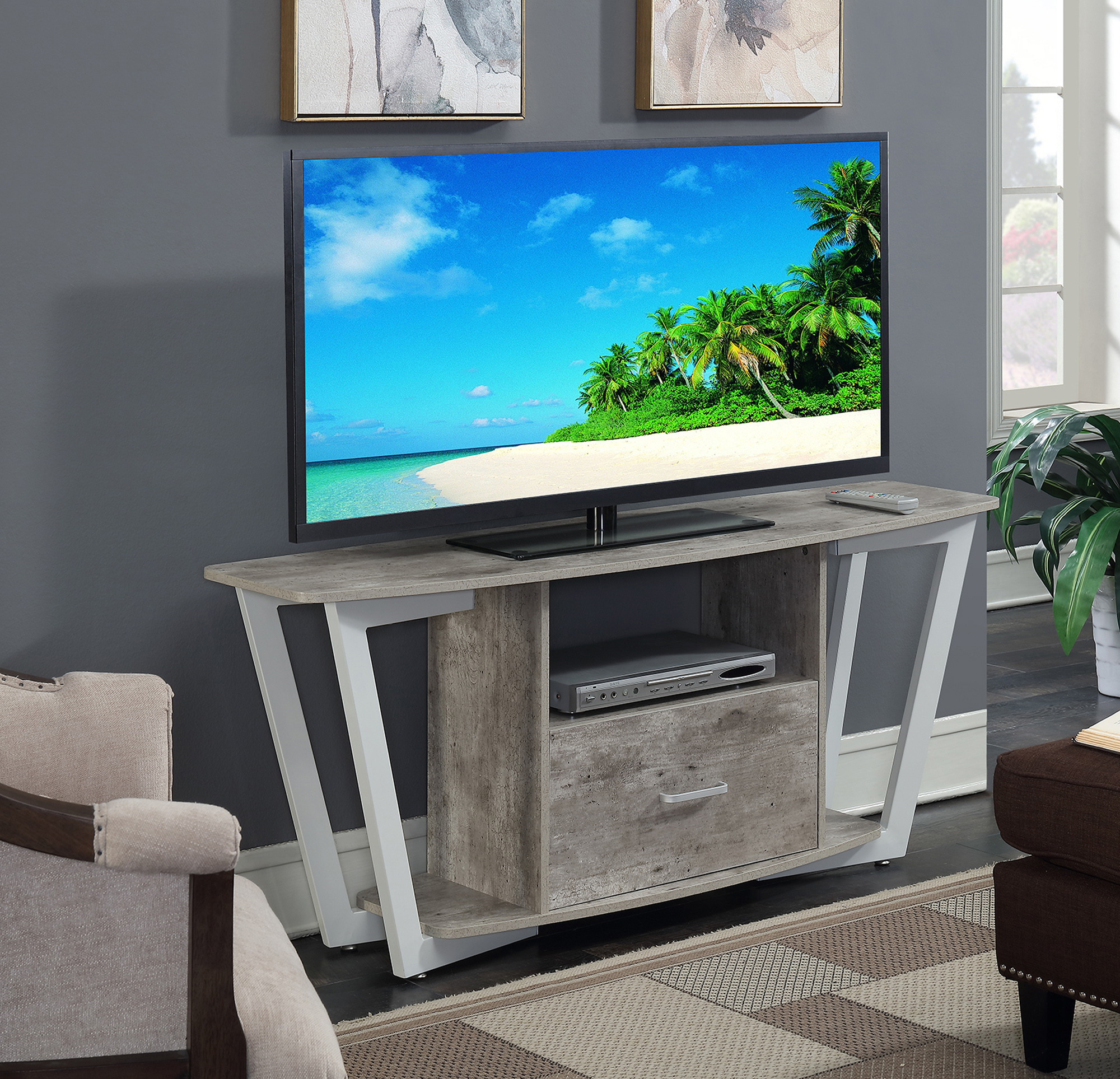 """Convenience Concepts Graystone 60"""" TV Stand, Multiple Finishes"""