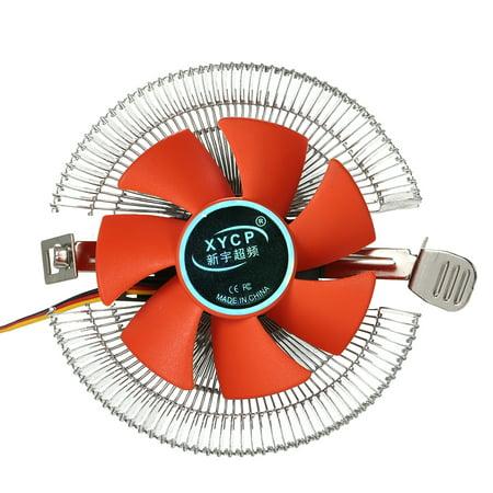 CPU Cooler Fan Heatsink Cooling Fan Air PC CPU Cooling Radiator 3 Pin for Intel LGA775 1155 AMD AM2 AM3
