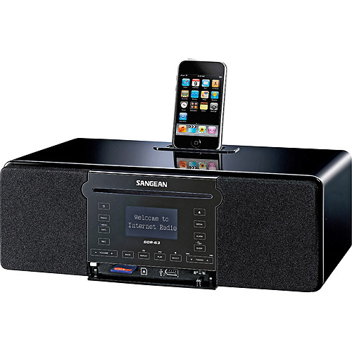 Sangean WiFi Internet Radio with CD Player, FM-RDS and iPod Dock