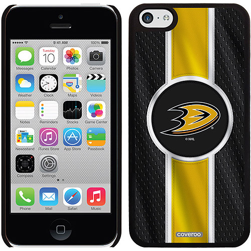Anaheim Ducks Jersey Stripe Design on iPhone 5c Thinshield Snap-On Case by Coveroo