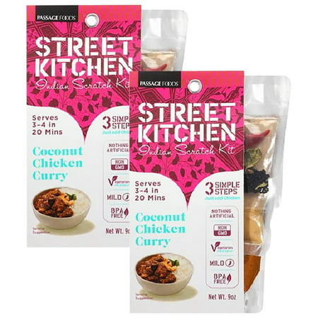 (2 Pack) Street Kitchen Coconut Chicken Curry Indian Scratch Kit, 9