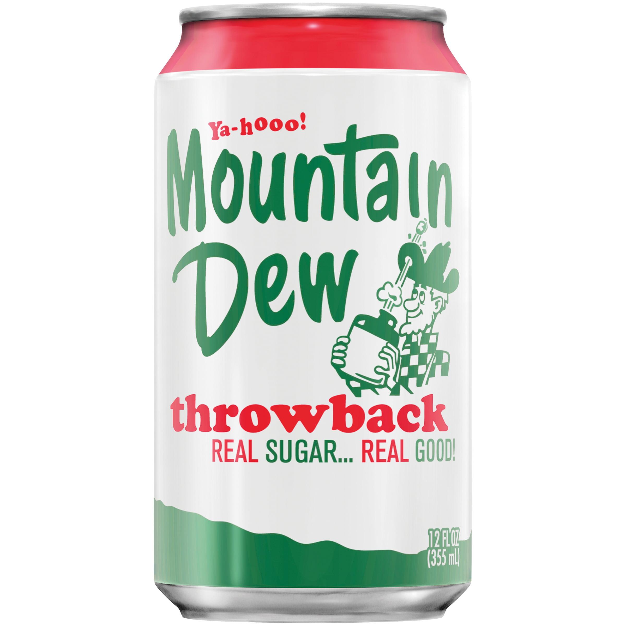 mountain dew throwback soda 12 fl oz 12 count walmart com