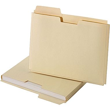 staples file folder jackets letter manila 150 sheet capacity 10