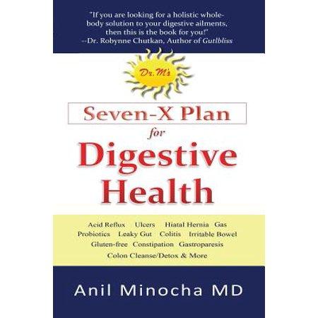 Dr M Plan Sept-X de la santé digestive: Reflux acide, Ulcères, Hernie hiatale, Probiotiques, Leaky Gut, sans gluten, gastroparésie, Constipation, Coliti