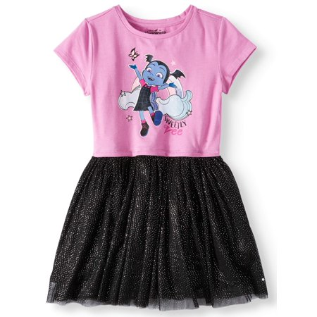 Vampirina Foil Mesh Dress (Little Girls and Big Girls) Foil Mesh Dress