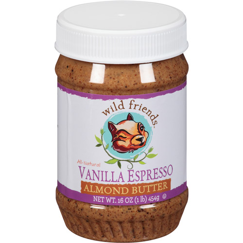 Wild Friends All-Natural Vanilla Espresso Almond Butter, 16 oz, (Pack of 6)