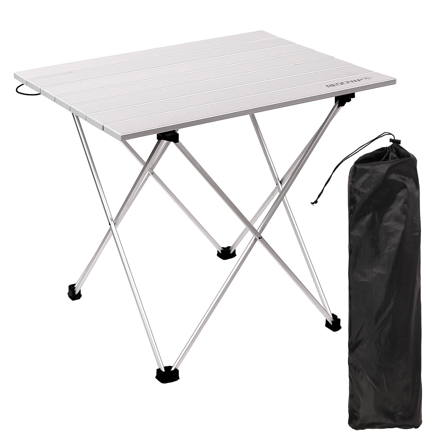 Aluminum Roll-up Table with Easy Carrying Bag for Indoor,Outdoor,Camping Party BBQ Patio Sanny Lightweight Square Folding Portable Picnic Camping Table Beach,Backyard Picnic