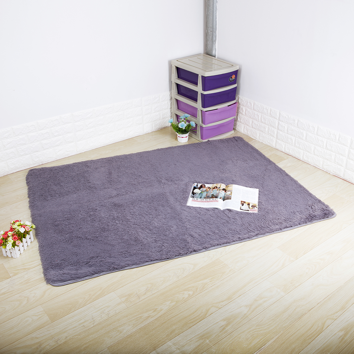 "dodoing 63''x472"" ultra soft shaggy rug fluffy area rugs"