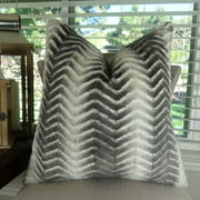 Thomas Collection Light Weight Gray Beige Double Sided Throw Pillow - 17436