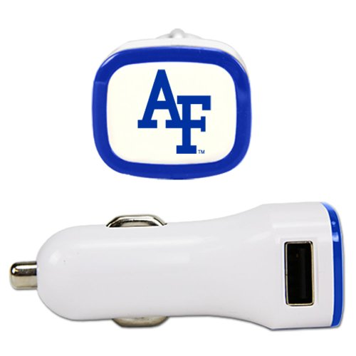 Air Force Falcons USB Car Charger, White