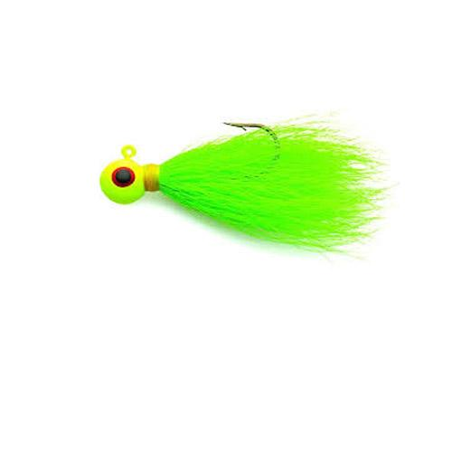 Eagle Claw Bucktail Jig 3 8 4ct Chartreuse ECJB38-C by