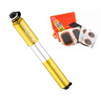 Lezyne Pressure Drive Hand Pump (Gold, Small) + Patch Kit