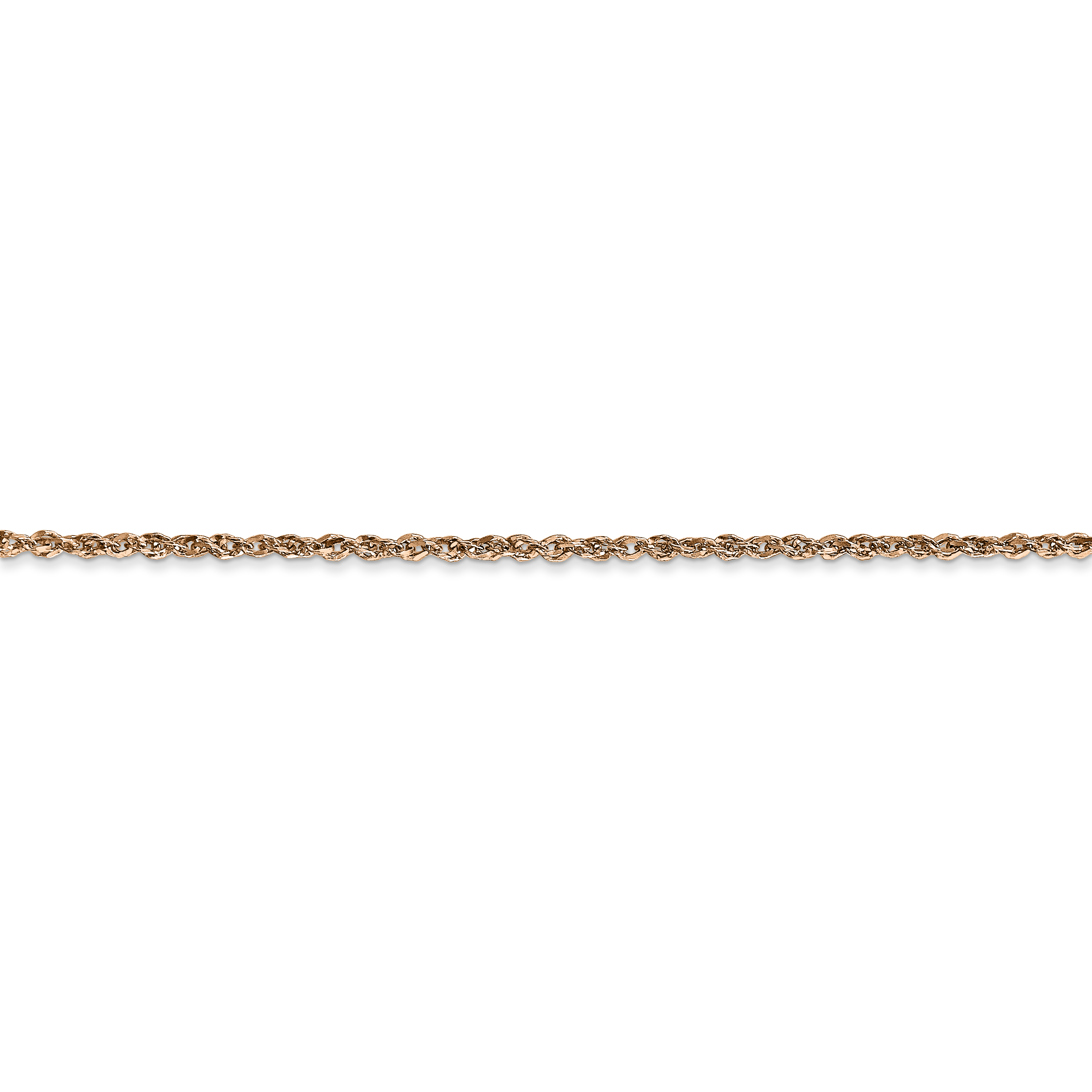 14k Rose Gold 1.7mm Ropa Chain Anklet Ankle Beach Bracelet Fine Jewelry Gifts For Women For Her - image 1 of 4