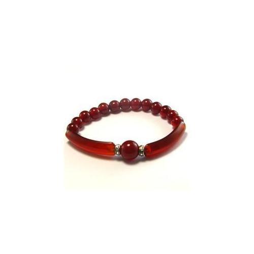 CET Domain 2C070012 Natural Red Agate Bracelet