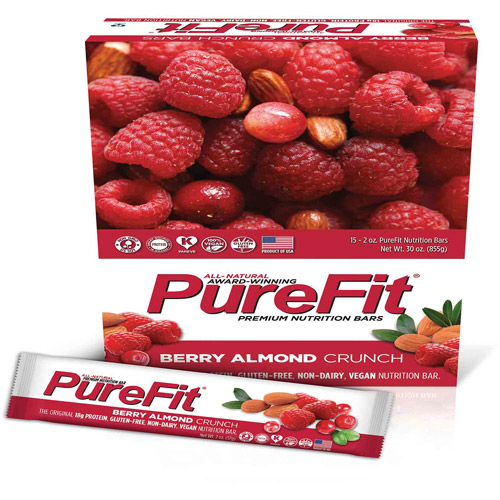 PureFit Nutrition Bar Berry Almond Crunch - 15-2 oz Net Wt. 30 oz. (850.5g)