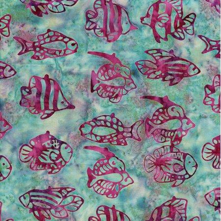 Island Batik Ocean Odyssey Tropical Fish Cool Waters