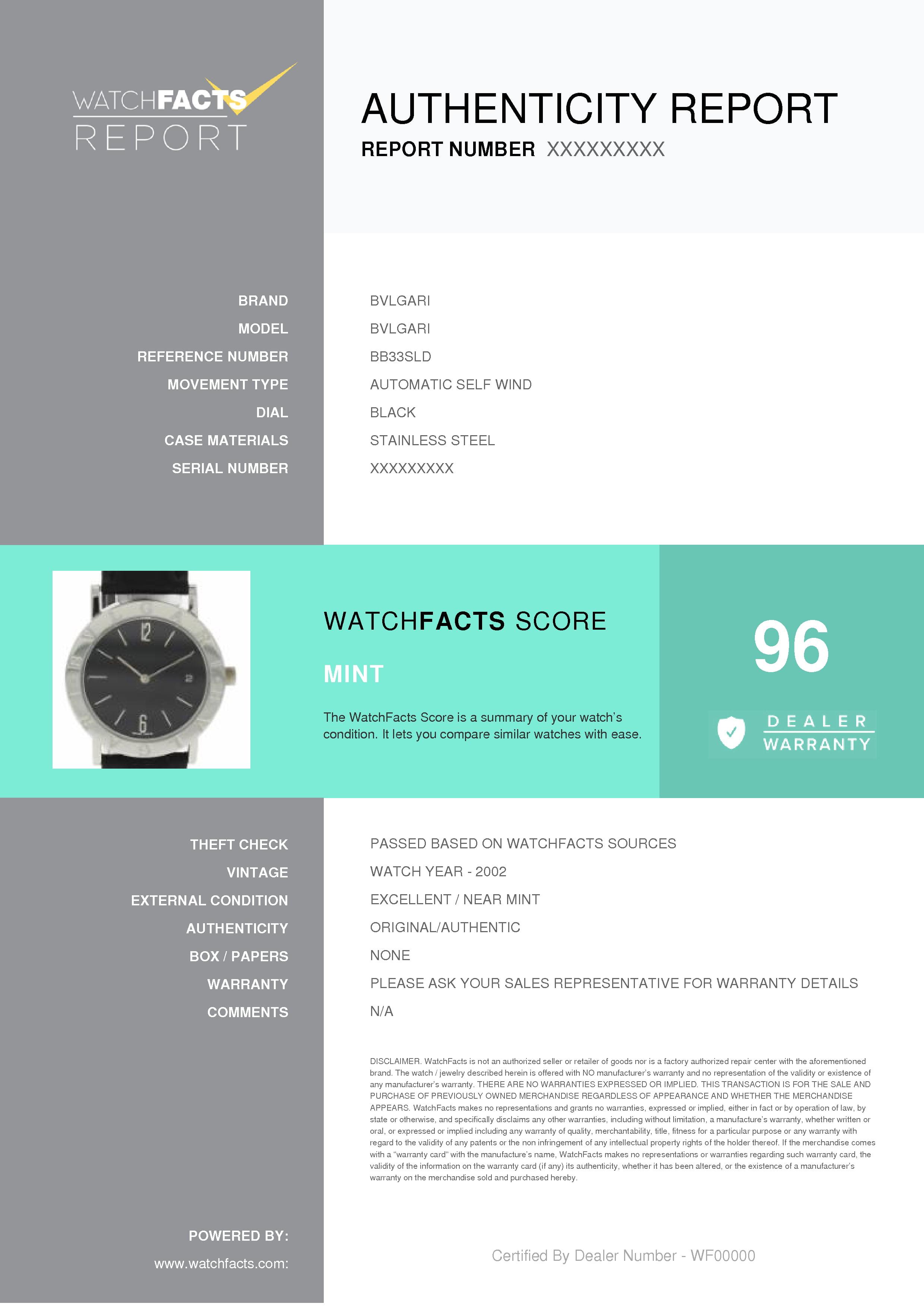 hot sales e7bc8 c3f84 Bvlgari Bvlgari BB33SLD Steel Women Watch (Certified Authentic & Warranty)