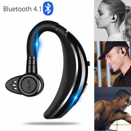 EEEKit Bluetooth Earpiece Compatible with iPhone Android, True Wireless V4.1 Business Trucker Driving Earphones Noise Canceling Hands-Free Earbuds with Mic, Black